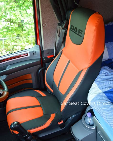 daf xf truck seat covers orange edition