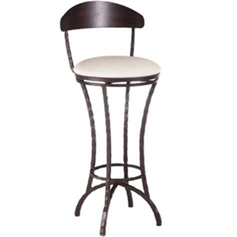 iron bar stools iron counter stools hudson swivel counter stool 26 in seat height 9011