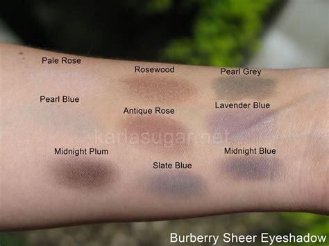 burberry sheer eyeshadow swatches beauty eyeshadow