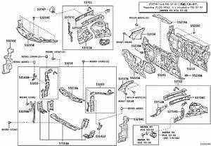 2013 Toyota Camry Radiator Support Baffle  Right