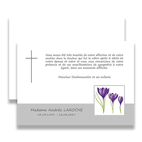 modele de lettre de remerciement pour un deuil remerciement de deuil d 233 c 232 s chr 233 tien l adieu floral