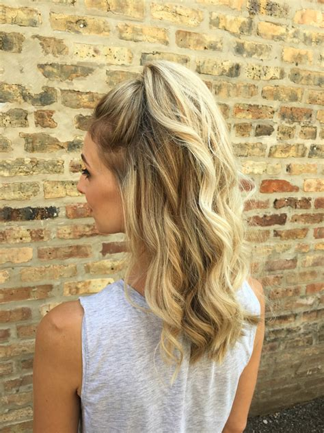 cute casual half up half down hairstyle with waves a