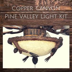 Rustic, Lodge, And, Cabin, Pinecone, Ceiling, Lighting
