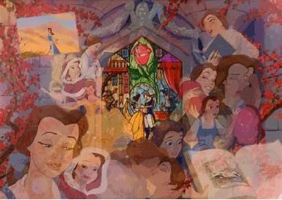 Collage Belle Disney Princess Beast Beauty Background