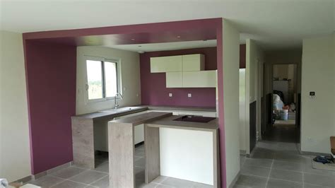 cuisine sans poign馥 cuisine blanc laque et bois maison design bahbe com