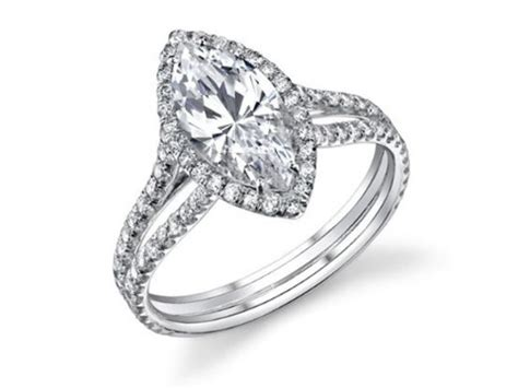 Semi Mount Split Shank Halo Pave Engagement Ring With 1.15