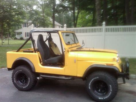 cj jeep yellow buy used 1980 jeep cj 7 custom in lincoln park new jersey