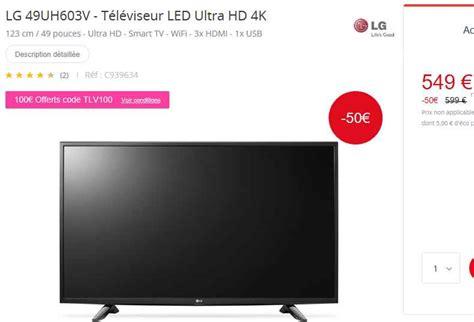 bon prix smart tv 4k 49 pouces lg 224 449