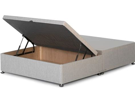 Ottoman Base Bed by Half Opening Storage Ottoman Available In Single