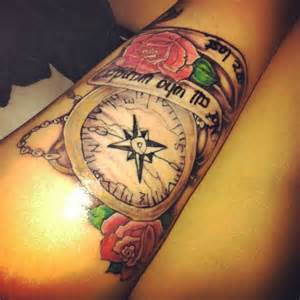 Not All Who Wander Are Lost Compass Tattoo