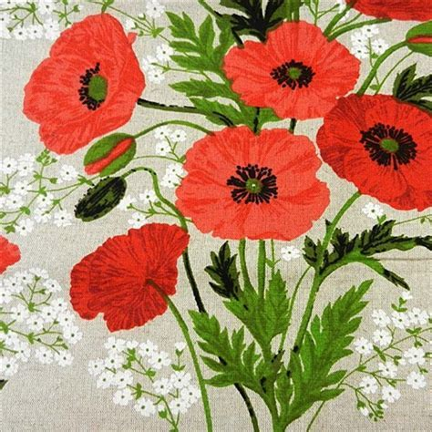 Polish Art Center   LinenTablecloth: Czerwone Maki   Red