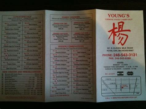 youngs chinese food carry  royal oak restaurant