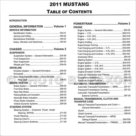 free auto repair manuals 2011 ford mustang parking system 2011 ford mustang repair shop manual original 2 volume set