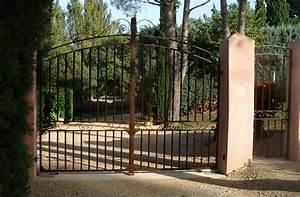 Portail Fer Forgé Plein : portail sur mesure en fer forg aix en provence 13100 ~ Dailycaller-alerts.com Idées de Décoration