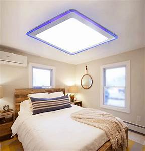 No ceiling lights in bedrooms : Free shipping flush mount led modern ceiling light living