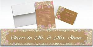 custom rustic floral wedding invitations thank you notes With wedding invitations from party city