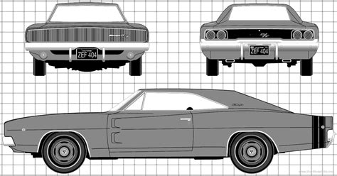 Blueprints > Cars > Dodge > Dodge Charger RT (1968)