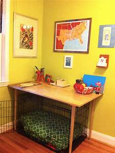 build dog crate cover woodworking projects plans With table over dog crate