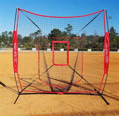 Sports Nets For Backyard by Baseball And Softball Hitting Net With Strike Zone Attachment