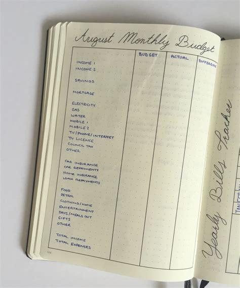 budget   bullet journal  deborah