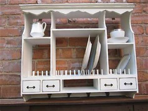 wall mounted plate rack shabby vintage chic kitchen plate rack  distressed plate racks