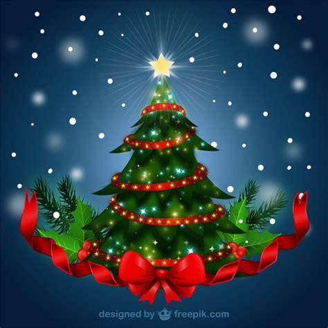 193 rbol de navidad con lazo rojo descargar vectores gratis