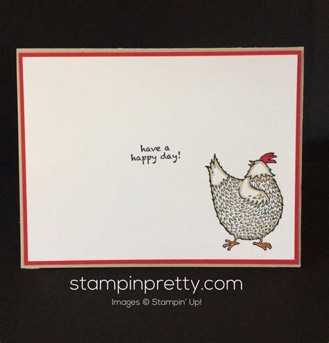 adorable hey chick birthday card stampin pretty