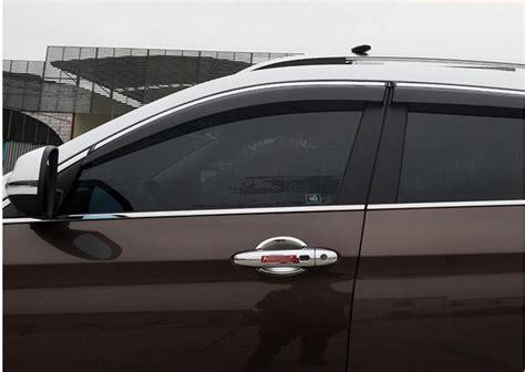 chrome stripe window visor vent shades sun rain guard