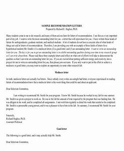Free 8 Sample Generic Recommendation Letter Templates In