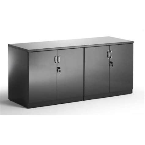 High Gloss Black Credenza  Office Storage Uk
