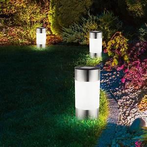 Lampen Für Garten : 6er set led solar lampen edelstahl au en garten weg beleuchtung steck leuchten kaufen bei www ~ Eleganceandgraceweddings.com Haus und Dekorationen