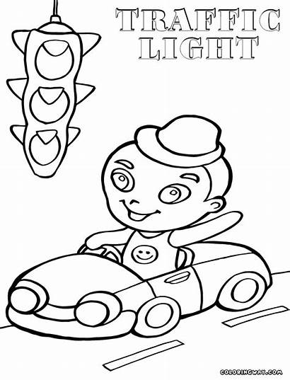Coloring Traffic Pages Template Trafficlight Dying Colorings