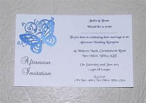 wedding invitations day or evening personalised corner With wedding invitations in one day