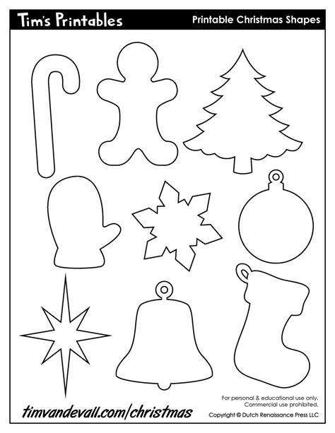 printable christmas ornaments cutouts printable cutouts