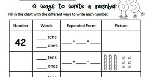 homeschool parent  ways  write  number  printable