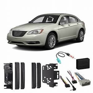Chrysler 200 2011-2014 Double Din Stereo Harness Radio Install Dash Kit Package