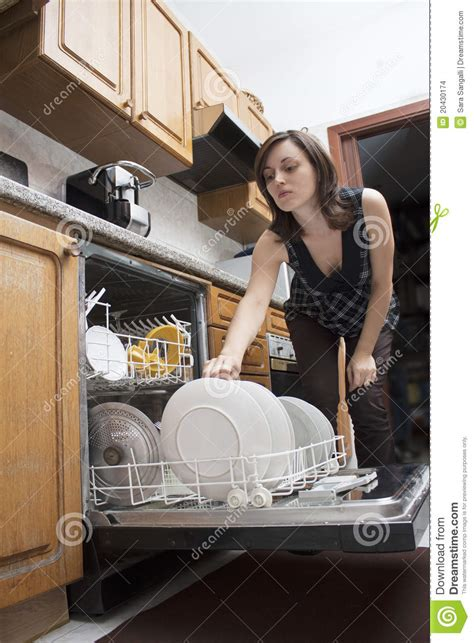 woman  dishes stock images image