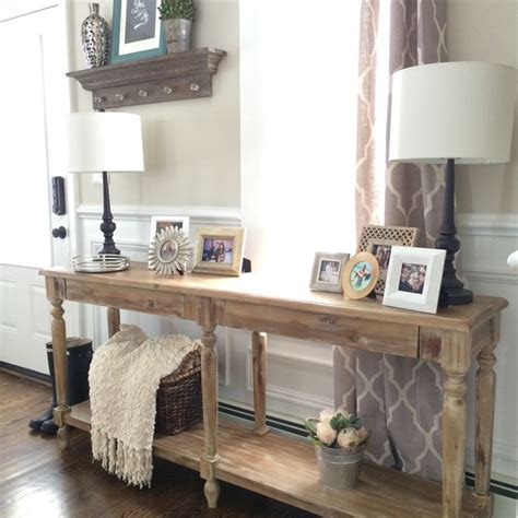 ideas  foyer table decor  pinterest
