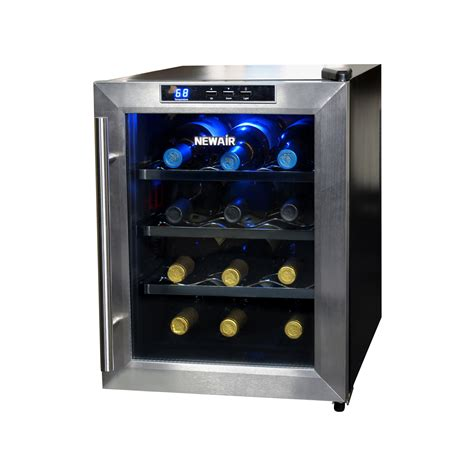 thermoelectric wine cooler newair aw 121e 12 bottle thermoelectric wine cooler shop