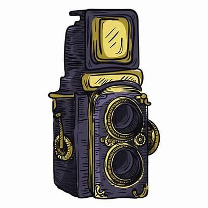 Lens Camera Twin Icon Sketch Transparent Vexels