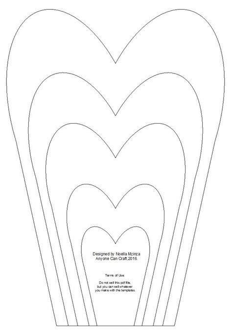 paper flower petal templates large flower petals anyone can craft