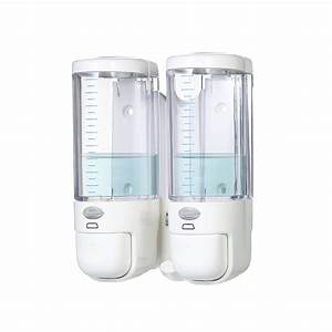 280ml   2 Double Bottles Manual Soap Dispensers Wall
