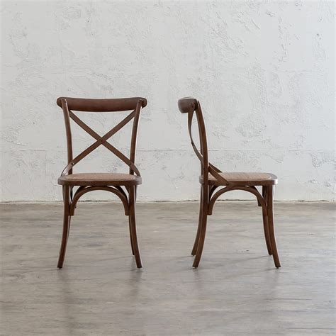 newfield cross  dining chair smoked teak cafe dining chair