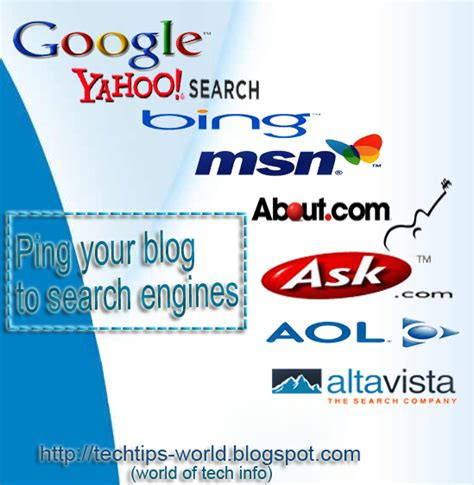 Technology Tips News Ping Your Blog Different