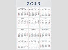 Вектор календар для 2019 — Стоковий вектор — вектор