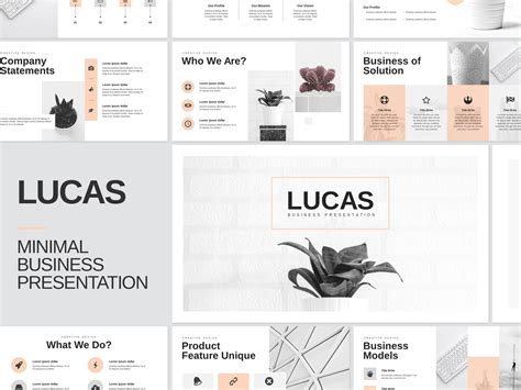 Minimal Business PowerPoint Template by Templates on Dribbble