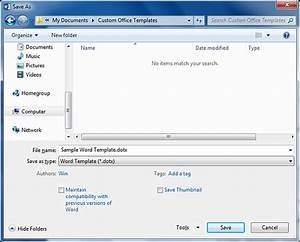 How to create a word template from an existing document for Microsoft word macro enabled template