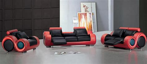 canape bretz tosh franco modern leather sofa set