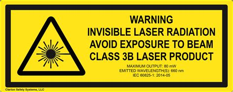 laser light warning label laser safety label standards clarion safety systems