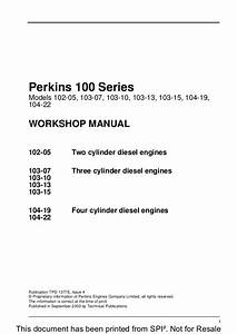 Perkins 100 Series 103